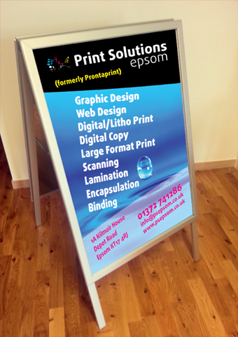 Digital print epsom litho print large format print epsom poster a whole suite of artwork was created for this great charity including pop up vinyl banners below plus leaflets business cards promotional flyers reheart Images